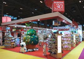 30th Anniversary exhibition stand for Aurora