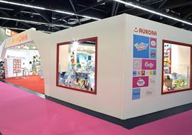 Exhibition Stand built at International Toy Fair in Germany