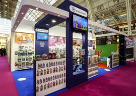 Brainstorm toy company exhibition stand at Olympia