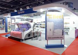 Pro Beauty show exhibition stand at ExCel for Cyrano