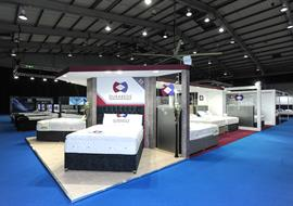 Durabeds exhibition stand at the Beds Show in Telford