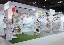 Ginger Ray's exhibition stand at the Spring Fair NEC