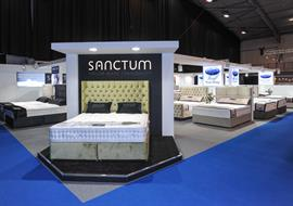 Exhibition Stand built at the Bed show in Telford