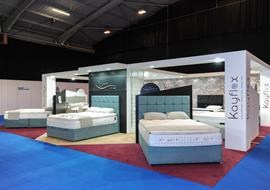 Exhibition stand for Kaylex beds in Telford
