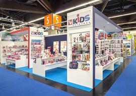 Exhibition stand for Kids Euroswan built in Nuremberg