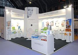 GMEX beauty show exhibition stand for Montibello