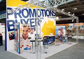 Exhibition Stand built at Olympia London for Promotions Buyer