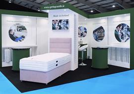 Spring Castle exhibition stand at the Bed show Telford