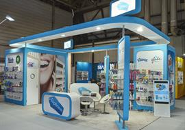 Curved design exhibition stand at Spring Fair NEC